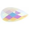 Opal Bright Sew-on Stone 10pcs Drop 16x30mm White Aurora Borealis